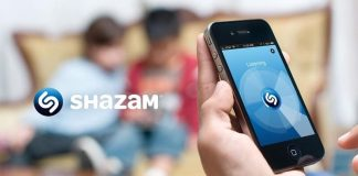 Shazam application musique