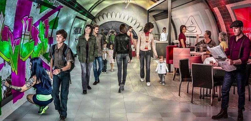 London Underline, piste cyclable métro, Londres