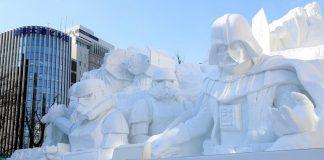Sculptures sur neige, Star Wars, Sapporo, Japon