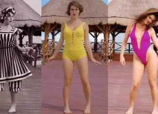 Amanda Cerny, évolution du bikini, temps