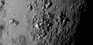 nasa, pluton, surface, montagnes de glace