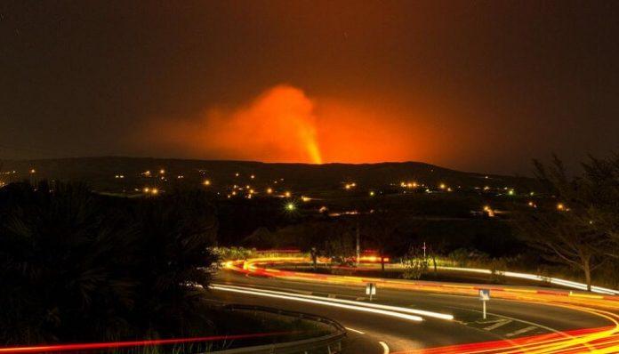 éruption, piton de la fournaise, 24 août
