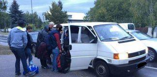 convoi, covoiturage, réfugiés, migrants