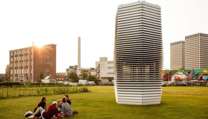 tour anti-smog, pollution de l'air