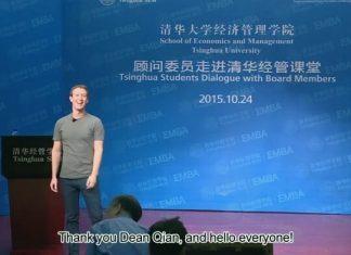 Mark Zuckerberg parle chinois, Tsinghua