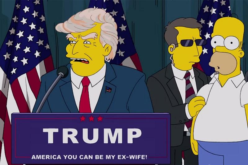 Victoire de Donald Trump dans Les Simpson
