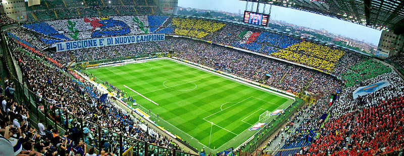 Stade Giuseppe-Meazza, Milan, Italie