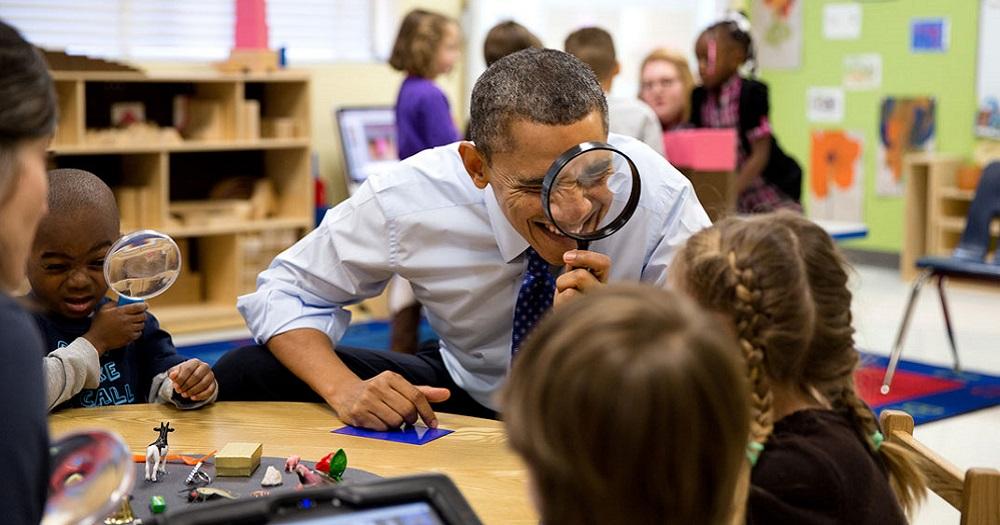 Barack Obama, Enfants, Maternelle