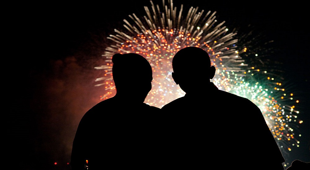 Barack Obama, Feu d'artifice
