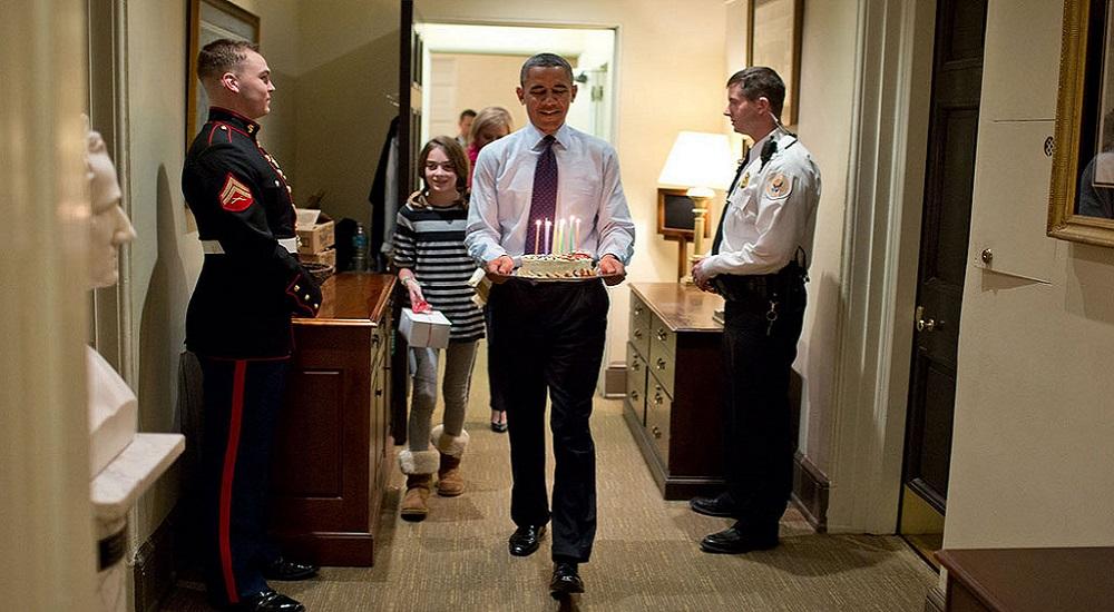 Barack Obama, Gâteau d'anniversaire