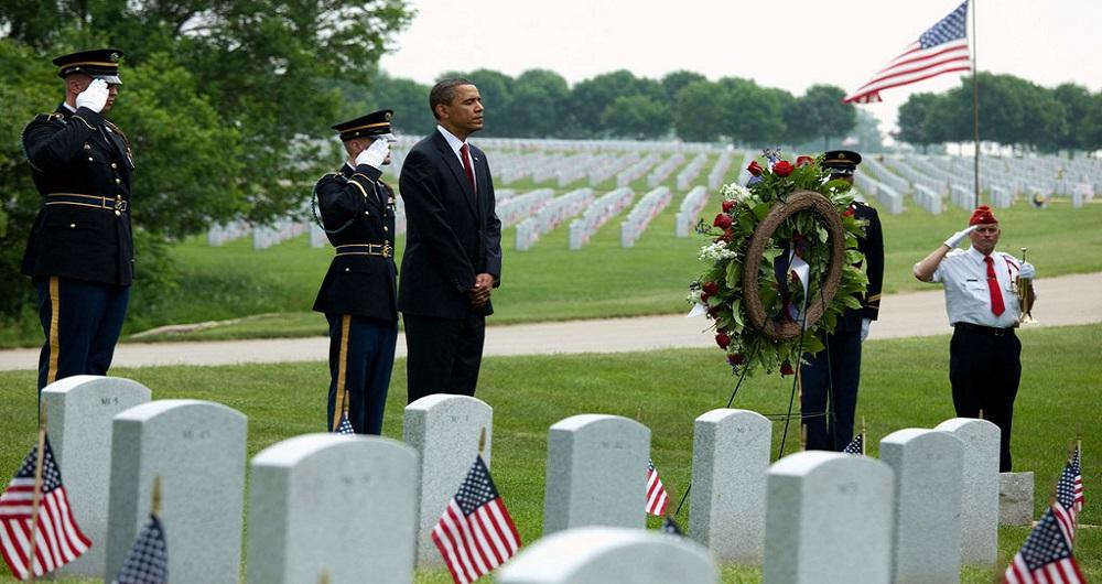 Barack Obama, Hommage, Soldats