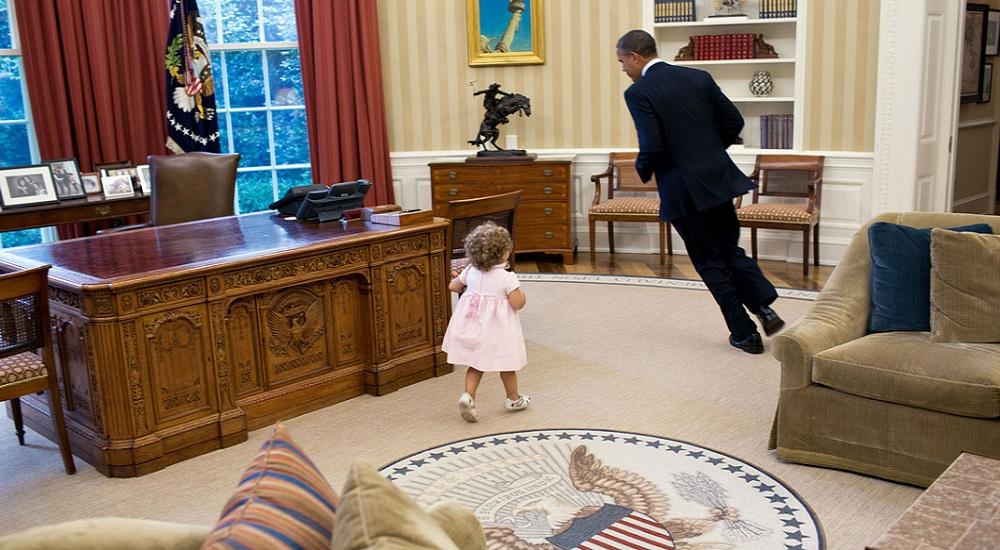 Barack Obama, Jouer, Petite fille
