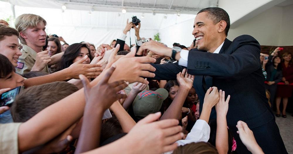 Barack Obama, Salutation, Foule