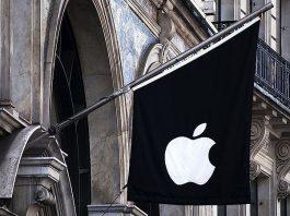 Drapeau Apple Store Londres