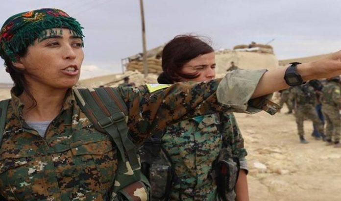 Rojda Felat, commandante en Syrie