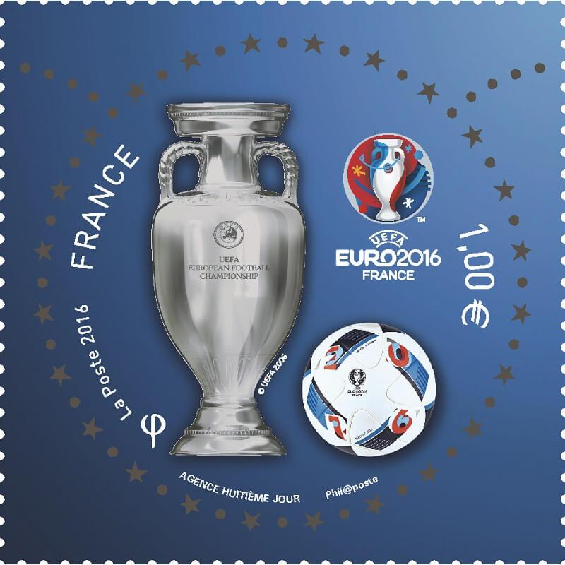 Timbre spécial Euro 2016 France, La Poste