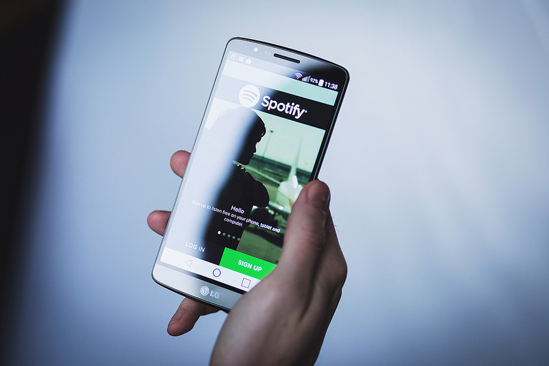 Application Spotify sur Smartphone