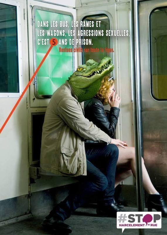 Affiche RATP contre le harcèlement de rue
