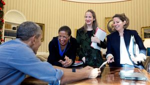 Des femmes ont trouvé une astuce pour ne plus se faire interrompre à la Maison Blanche
