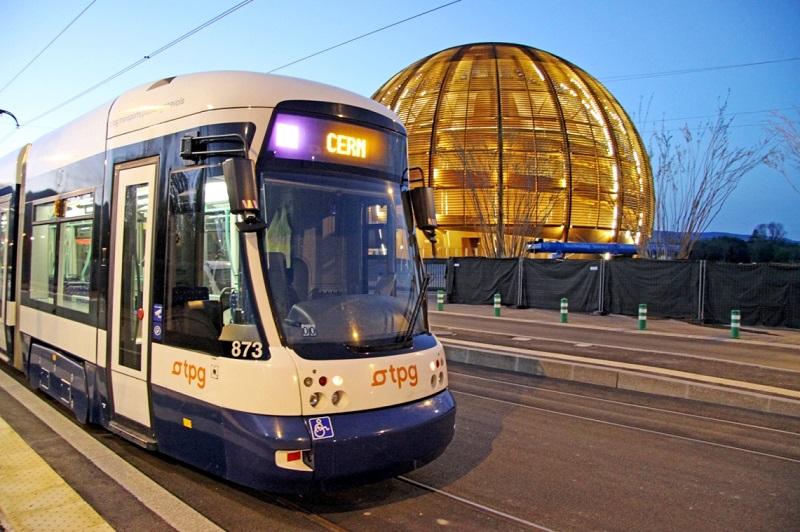 Tramway, CERN Suisse