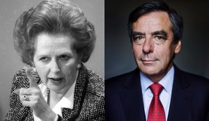 Margaret Thatcher et François Fillon